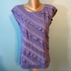 🛍3/$25 Loft ruffled shirt